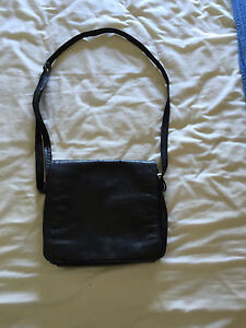 Joan Weisz Leather Flap Over Sling Bag