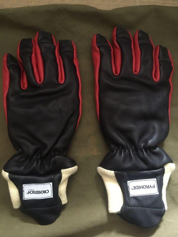 **Firefighter Fireman Leather Fire Gloves Firemaster Fusion Size Medium**