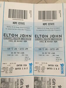 Elton John Tickets Hunter Valley