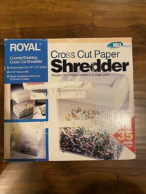 Royal Cross Cut Paper Shredder - Orca Micro Counterdesktop - Holds 35 Sheets