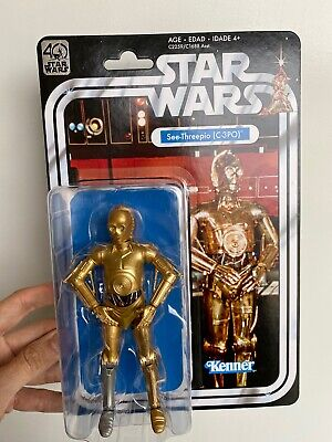 """Star Wars Kenner The Black Series 40th Anniversary 6"""" C-3PO New On Card"""