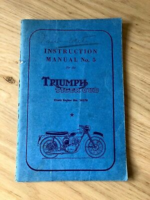 Triumph Tiger Cub Instruction Manual No. 5 (1956)