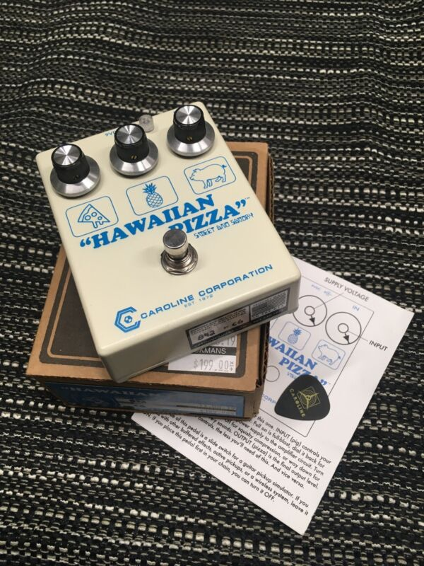 Caroline Hawaiian Pizza Sweet And Savory Guitar pedal FUZZ + MORE! TESTED