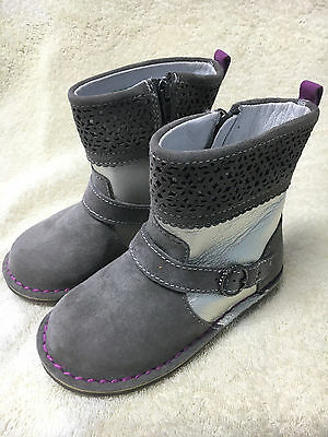 Girls Stride Rite Medallion Collection Alice Grey/Gold Toddler Boots NIB