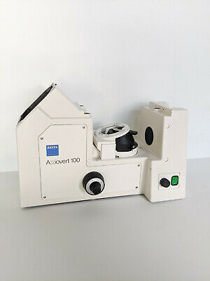 Carl Zeiss Axiovert 100 Inverted Microscope Stand Frame Base Lamp Power Supply