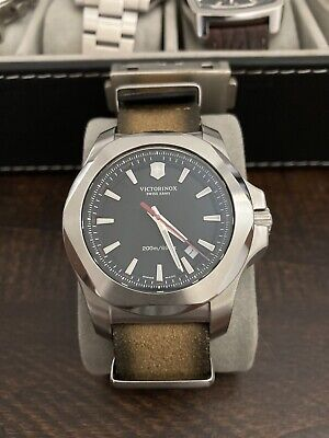 Victorinox I.N.O.X. Men's Wristwatch with Black Dial Swiss Made.