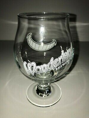 Wonderland Brewing Co. Broomfield, CO beer glass - Cheshire cat grin!