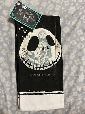 Disney The Nightmare Before Christmas Halloween Set 2 Kitchen Terry Back Towels