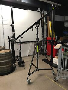 Studio boom pole and stand