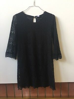 H&m Black Lace L/S Sleeve Dress