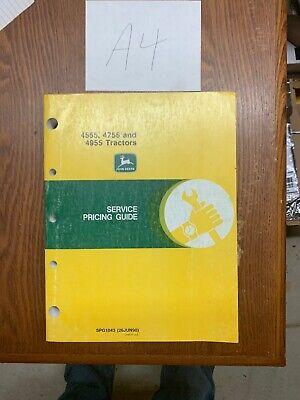 John Deere 4555 4755 4955 Tractor Service Pricing Guide Manual Spg1043