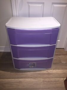 3 drawer storage bin