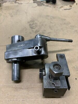 Harding Lathe Turret Tool 58 Shank And Empire Tool Co. Cut Off Blade Holder 36w
