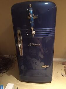 Antique keg fridge