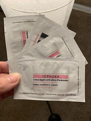 (lot of 4) Sephora INSTANT MOISTURE + CREAM Hyaluronic Acid Booster SAMPLE 2mLx4