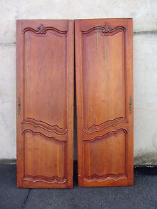 2 anciennes portes d 39 armoire customiser ebay for Armoire ancienne 2 portes