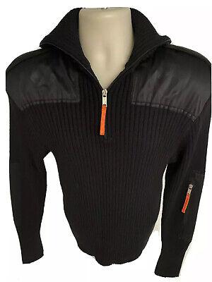 Vintage Black Rossignol JC DE Castelbajac 1/4 Zip Turtle Neck Wool Sweater XL