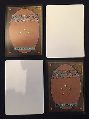 4X Proxy Blank Mtg Cards  White    Magic The Gathering   Create Any Mtg Playset