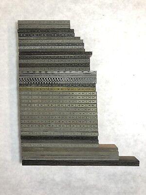 43 Piece Lot Of Assorted Borders Wood Metal Type Letterpress Printing Vintage