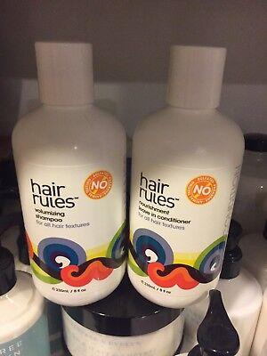 Hair Rules Set Volumizing Shampoo And Nourishment Leave In Conditioner 8 OZ Each (Nourishment Leave)