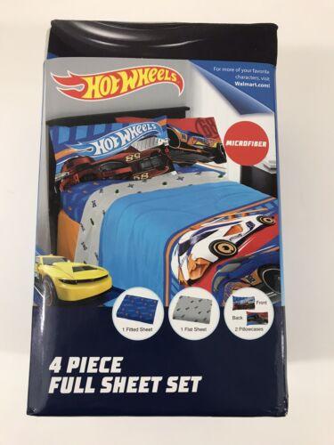 Hot Wheels Cars FULL Microfiber Sheet Set Fast Pace Super So