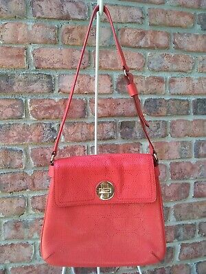 Kate Spade New York Vanessa Double Bag Coral Leather Turnlock Flap One Handle  ()