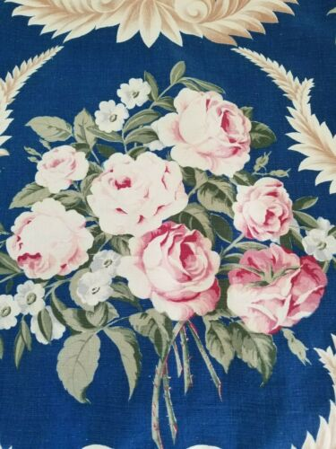 Vintage Roses Blue Cushion Cover Homemade