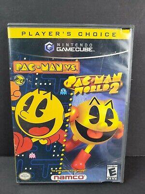 Pac-Man vs./Pac-Man World 2 (Nintendo GameCube, 2003) Complete Game CIB TESTED