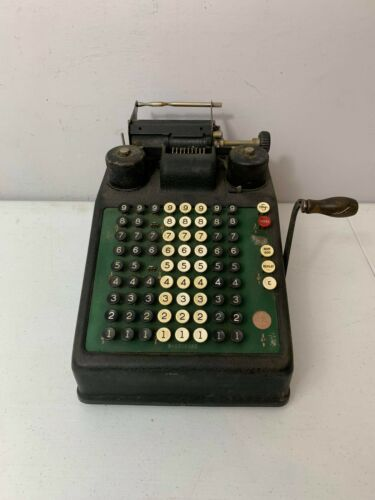 BURROUGHS Portable ADDING MACHINE, ANTIQUE, VINTAGE, WORKING