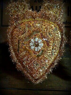 Amazing Handmade Indian Zardosi Embroidery Garlands Wall Decorations Vtg