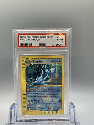 💦 Kingdra Holo - Pokemon Aquapolis Set - PSA 9 - MINT 🌱