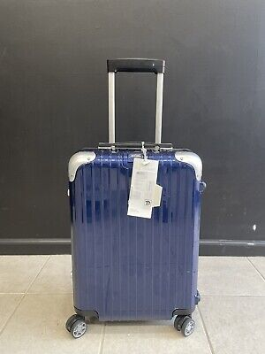 """Rimowa Limbo Glossy Blue 21"""" Cabin luggage Multiwheel Carry On Suitcase Rare"""