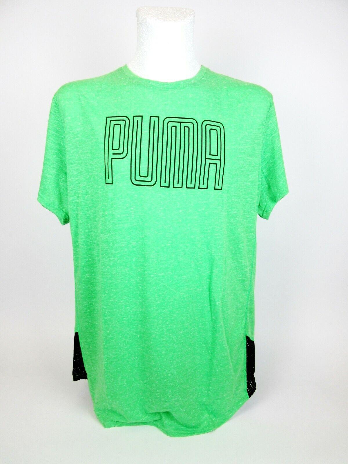 Puma Herren T Shirt Grün Größe XL Funktionsshirt Sport Laufshirt Kurzarm Fitness
