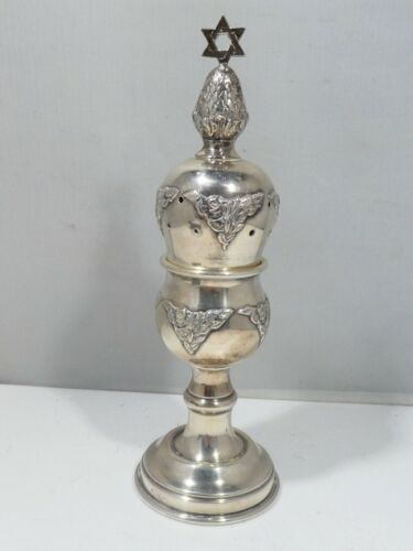 STERLING SILVER JUDAICA SPICE TOWER 2.69 TROY OUNCES