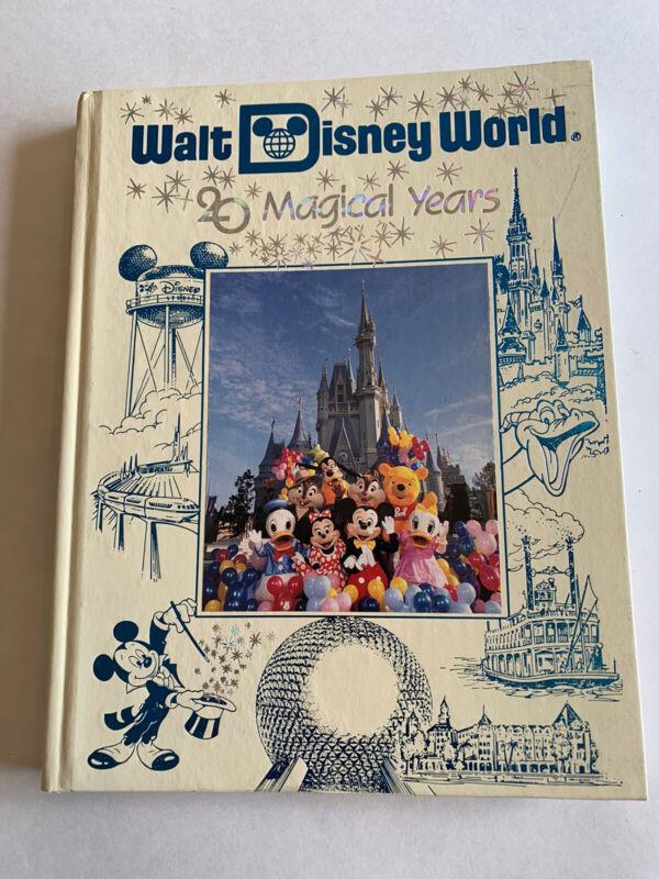 G+ Walt Disney World 20 Magical Years 1991 Hardcover Souvenir Photo Book