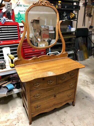 Antique Victorian Oak Dresser w/ Mirror