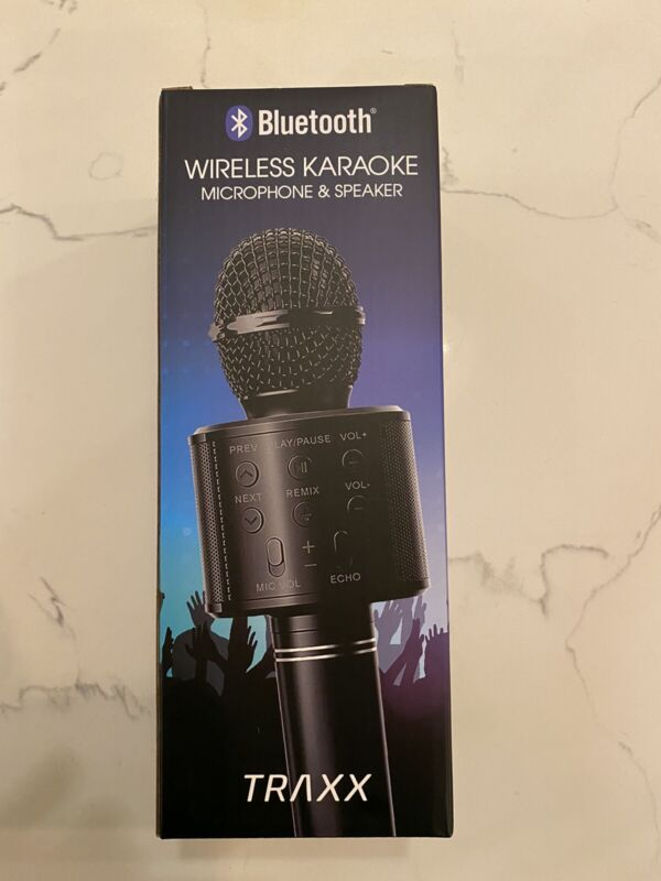 Wireless Karaoke Microphone Speaker Bluetooth by TRAXX NEW