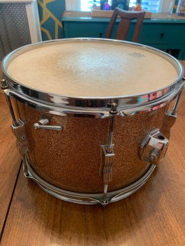 "1967 Ludwig Vintage 8""x12"" Keystone Tom Drum Champagne Sparkle"
