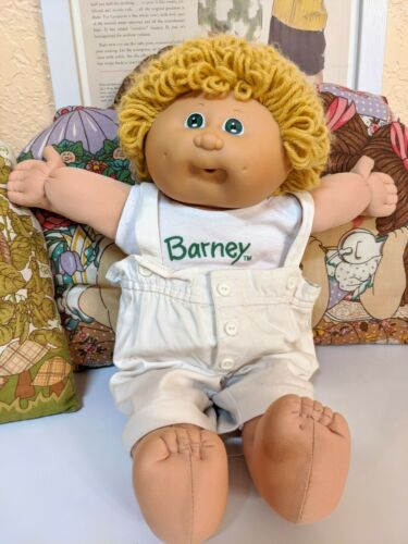 Vintage Cabbage Patch Kid Blonde Hair Been Eyes Paci Face 1984 - $19.99