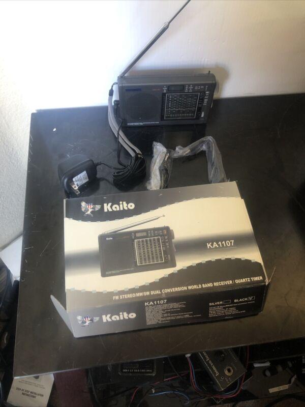 Kaito Model KA 1107 Dual Conversion World Band Receiver-Mint Condition