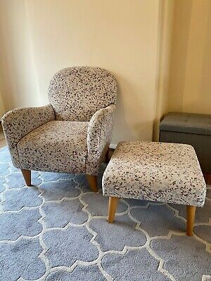 Armchair and Matching Footstool. Very comfy and in good condition.