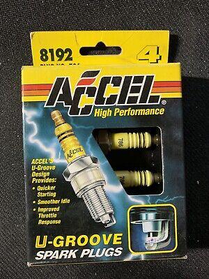 Spark Plug-U-Groove Resistor Accel 8191 4 Pack Plug # 784 BNIB made by Denso