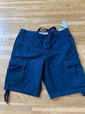 Mens Abercrombie & Fitch Navy  Cargo Shorts  size waist 33 - new with tags