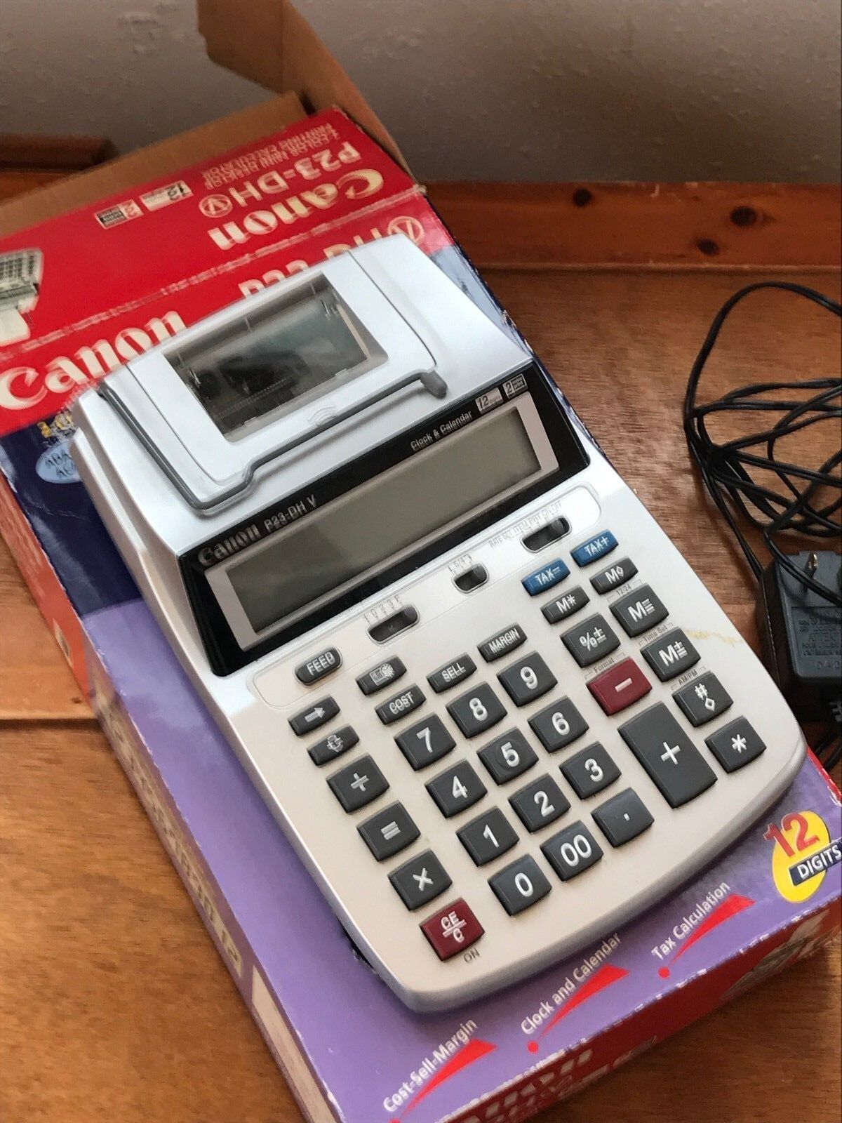 Gently Used Canon P23-DH 2-Color Mini Desktop Printing Calculator – Cost-Sell-Ma