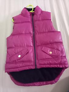 Pumpkin Patch girl puffer vest size 5