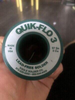 Quick-flo 3 - 973 Lead Free Solder 1 Lb. Roll