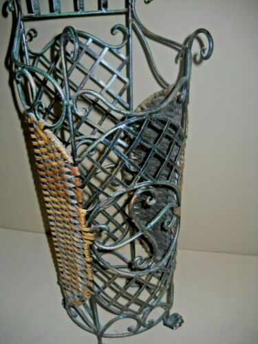 """VINTAGE Large HEAVY Umbrella Walking Stick Stand Very ORNATE 32"""" TALL"""