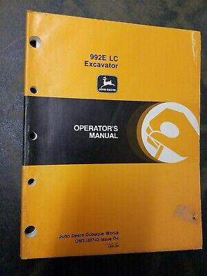 John Deere 992e Lc Excavator Operators Manual
