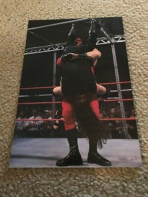 Vintage WWF THE UNDERTAKER vs KANE HELL IN A CELL Wrestling Pinup Photo WWE (Wwe Hell In A Cell Undertaker Vs Kane)