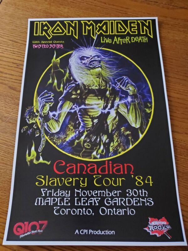 Iron Maiden 1984 Toronto Tour Poster